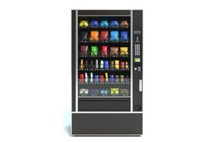 Vending machine with generic snacks in it