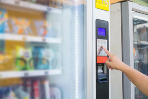Making-a-selection-on-the-vending-machine